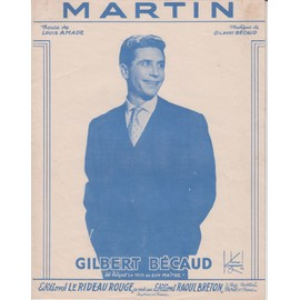 GILBERT BECAUD PARTITION MARTIN