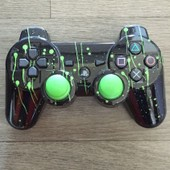 Manette Burn Ps3 / Stained Green Black