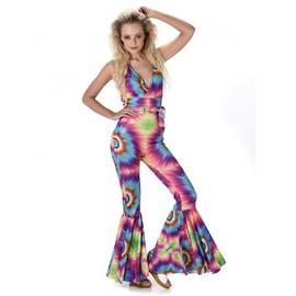 D�guisement Combinaison Hippie Psych�d�lique Femme, Taille Medium