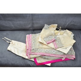 Robe De Mari�e Roopkala Sari Tulle 38 Ecru