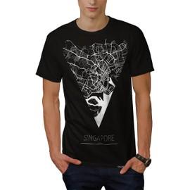 Asie Ville Singapour Ville Carte Homme Nouveau T-Shirt S-5xl   Wellcoda