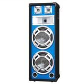 Skytec Enceinte sono passive syst�me 3 voies pour DJ & PA 2x subwoofers 20cm (8�) effet LED bleu 600w max.