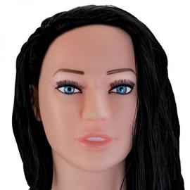 Poup�e Gonflable Brune R�aliste Vibrante Visage 3d - Collection Vibee-Doll