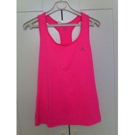 T-Shirt Fitness Domyos Polyester 44 Fuchsia