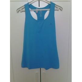 T-Shirt Fitness Domyos Polyester 42 Bleu