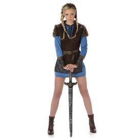 D�guisement Viking Bleu Femme, Taille Medium