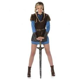 D�guisement Viking Bleu Femme, Taille Large