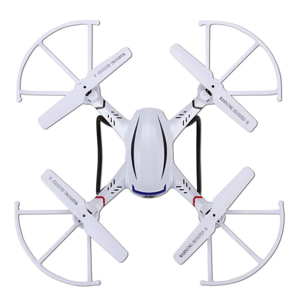 Jjrc H12c-5 2.4g 4ch 6-Axis Gyro Led Lampe 2 Mode Automatique Retour Quadcopter Drone Hd 1080p 2.0mp Caméra Blanc-Jjrc