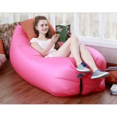 Sofa Gonflable Canap� Hangout Popbag Laybag Fabrication Europeenne 185*70cm En Couleur Rose