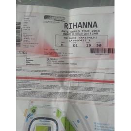 2 Places de concert Rihanna NICE catégorie 1 Zone D1