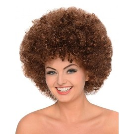 Perruque Afro Chatain Femme,