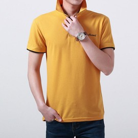 Hommes Polo Solid Color Casual Manches Courtes De Golf Respirant T-Shirt
