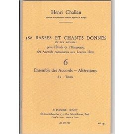 380 basses et chants donnés volume 6a - ensemble des accords, altérations - textes