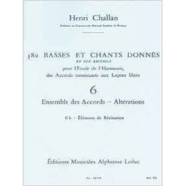 380 basses et chants donnés - volume 6b - ensemble des accords, altérations - élements de réalisation