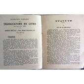 Federation Francaise Des Travailleurs Du Livre - Statuts Modifies Au Congres De Lille - 1924 - L'emancipatrice de collectif