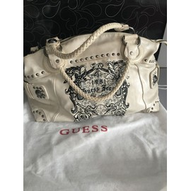 Sac � Main Guess Simili Cuir Beige