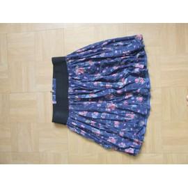 Jupe Zara Courte Coton Taille 40 Multicolore