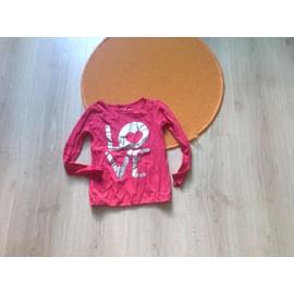 T-Shirt La Halle Coton 5 Ans Rose Pastel