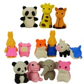 Minis Gommes Animaux De Collection