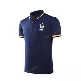 Immigoo � Uefa Coupe Europ�en Coupe D�Europe 2016 Maillot Polo Bleu Fonce T-Shirt De France Pour Homme