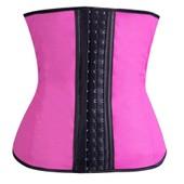 Getek� Caoutchouc Taille Latex Taille Formateur De Cincher Des Femmes Underbust Corps Corset Shapewear S Rose Rouge