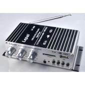 Polarlander Usb Fm Amplificateur Voiture Petit Amplificateur Moto Petit Amplificateur De Puissance 2x15w