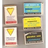 Pr�vention Routi�re Panneaux De Signalisation Code De La Route 5 Petites Bo�tes D�Allumettes Matchbox