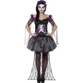 D�guisement Squelette Violet Mexicain Femme Halloween - 76874 - Medium - Port 0�