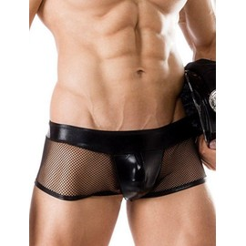 Taille 36 � 42 Lingerie Sexy Boxer Vinyl R�sille Homme Slip �rotique Sexe Gay Hot