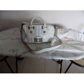 Sac � Main Guess Simili Cuir Blanc