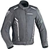Ixon Cooler Blouson Moto Textile Noir Et Blanc