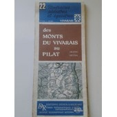 Vivarais Monts Du Pilat Carte Didier Richard N� 22 Au 1:50 000 de didier richard