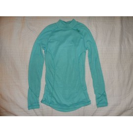 Sous-Pull Jersey Polyester Turquoise Wed'ze