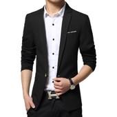Casual Veste Hommes Mode Blazer Seul Bouton Slim Fit V�tement D'automne