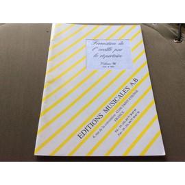 FORMATION DE L'OREILLE PAR LE RÉPERTOIRE (volume 5 F livre de l'élève )