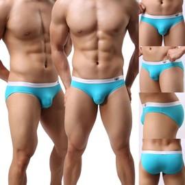 Sexy Slip Doux Bikini Hommes Sous-V�tements ,Confortable Natation Cale�on Multicolor
