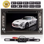 Bluetooth Gps Hd 2 Din Autoradio St�r�o �cran Tactile Dvd Mp3 Am Fm Usb Sd Tv+Cam�ra 12v 6.2''