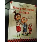 Max Et Lili Mon Petit Carnet De Tests de Serge Bloch