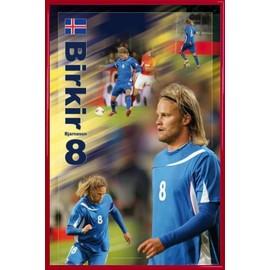 Poster Encadr�: Football - Birkir Bjarnason (91x61 Cm), Cadre Plastique, Rouge