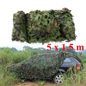 Filet Camouflage Camo Arm�e Camping 5m X 1.5m Militaire Chasse For�t Camouflable