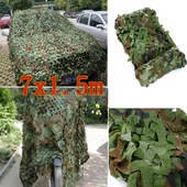 7x1.5m Filet De Camouflage Camo Arm�e Camping Militaire Chasse For�t Camouflable