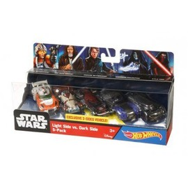 Hot Wheels Star Wars - Coffret 5 V�hicules C�t� Lumineux Contre C�t� Obscur