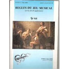règles du jeu musical cycle 2 - 1ère année (ancien préparatoire b)