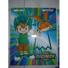 Poster G�ant (51x41cm) Digimon Digital Monsters (Neuf) : Tk + Patamon