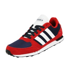 Adidas Neo Neo City Racer Chaussures Sneakers Mode Homme Rouge Bleu