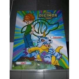 Poster G�ant (51x41cm) Digimon Digital Monsters (Neuf) : Matt + Gabumon