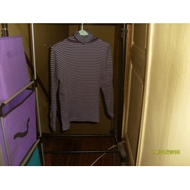 Pull Col Roul� Samanta Ray� Violet Taille M