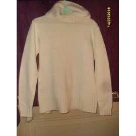 Pull Chaud Ecru Manches Longues Taille 42/44
