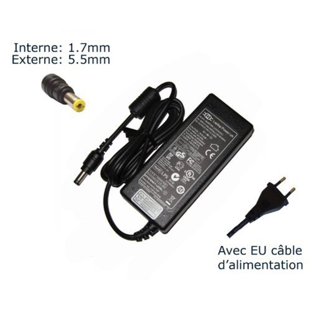 AC Adaptateur secteur pour Acer Aspire One A110 A110L A110X A150 531H 751H chargeur ordinateur portable, adaptateur