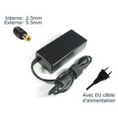 AC Adaptateur secteur pour Toshiba Satellite A500-14H A500-15H A500-19N A500-1F7 A500-1GL A500-1GP chargeur ordinateur portable, adaptateur